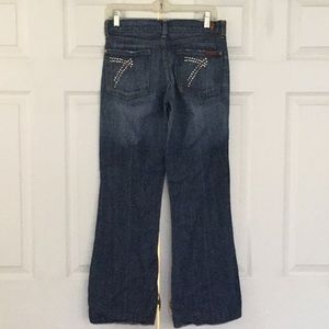Dojo 7 for all Mankind bling wide leg jeans 27